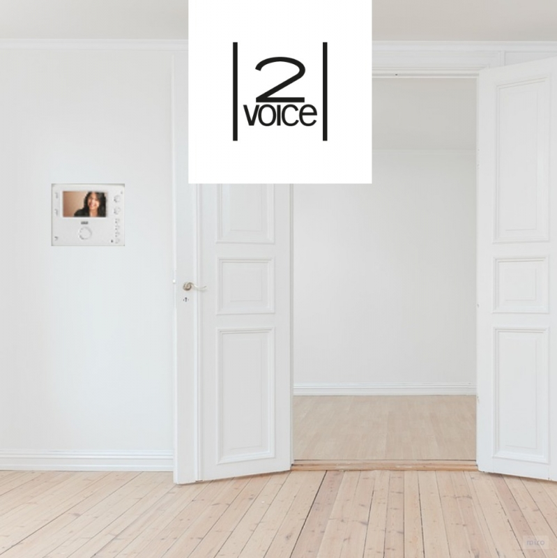 tweedraads intercom met 2voice van Urmet