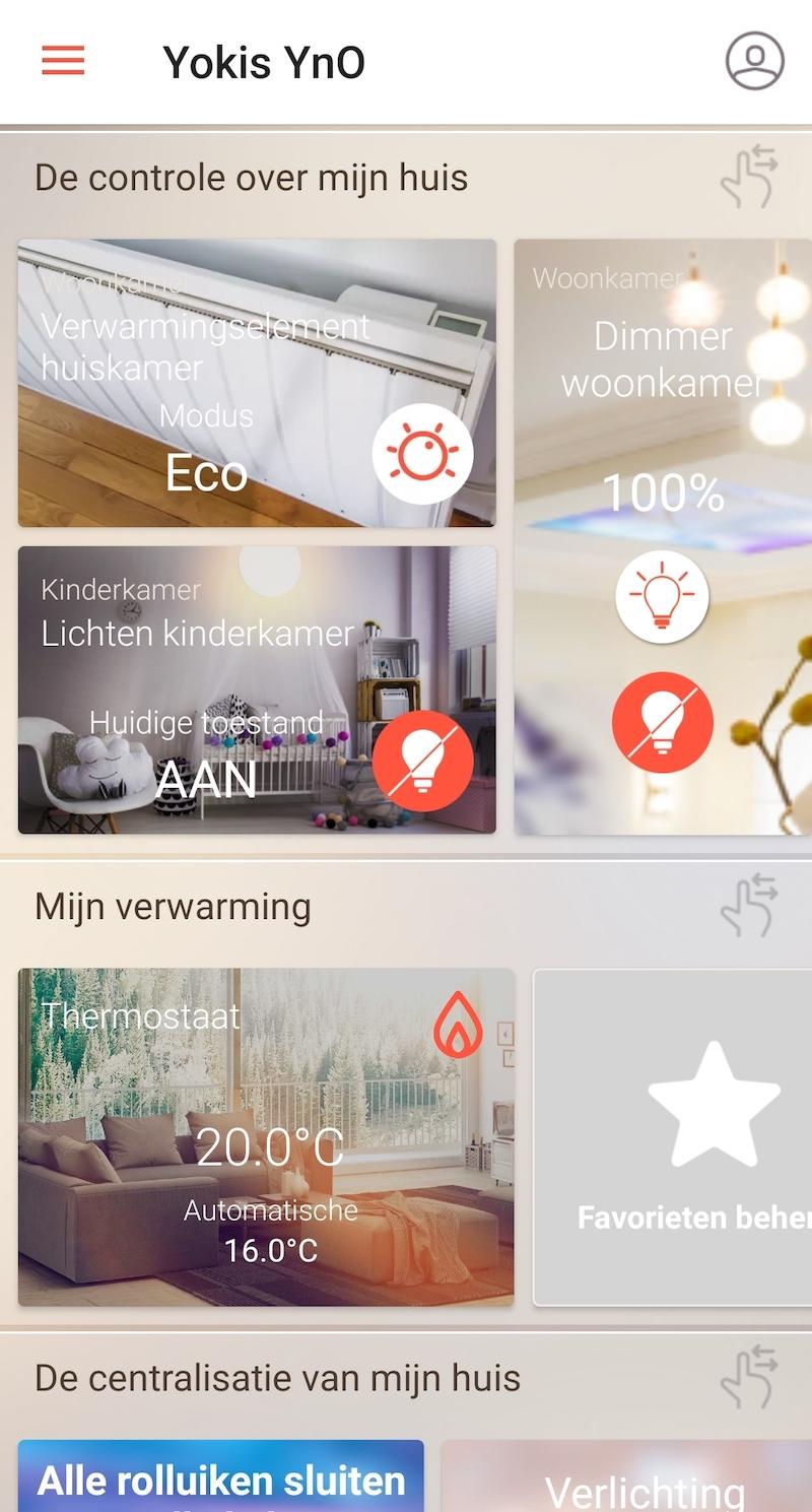 verlichting besturen met de YnO-app