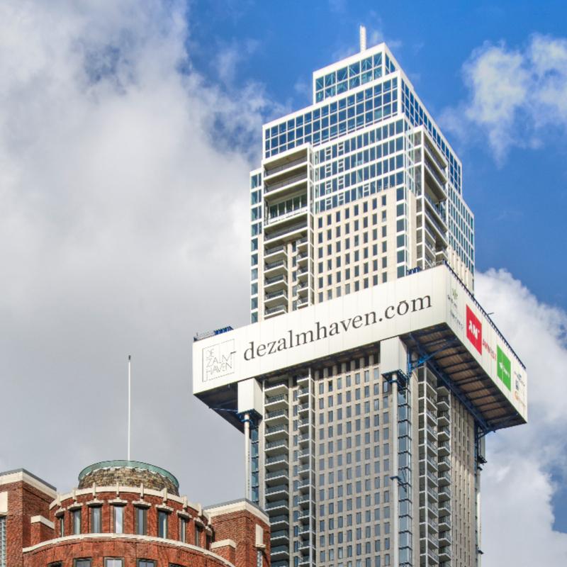 Imposante toren De Zalmhaven bereikt hoogste punt