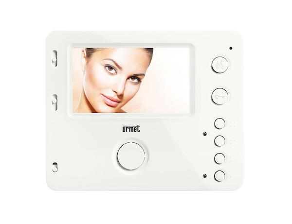 Witte handsfree intercom monitor van Miro