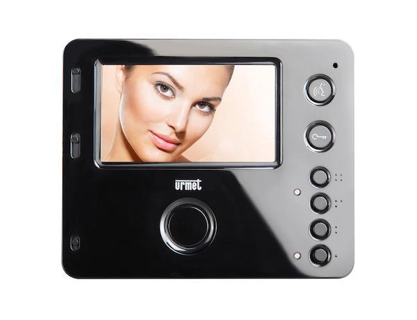 Zwarte handsfree intercom monitor van Miro